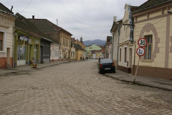 Lipova Romania, where I spent a year at age 20.  I miss those cobblestone streets.