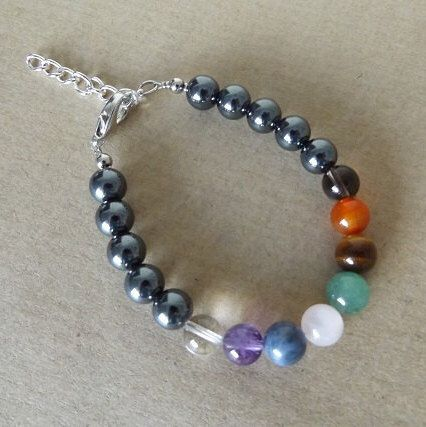 A personal favorite from my Etsy shop https://www.etsy.com/au/listing/237626475/chakra-bracelet-gemstone-beads