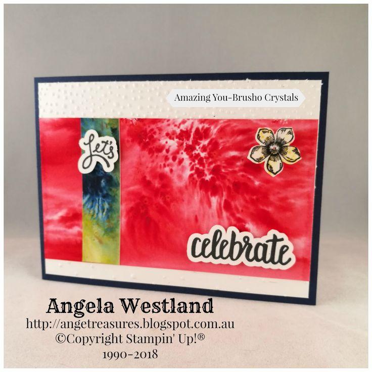 #brusho #amazing you #saleabrations2018 #handmadecards #angelawestland #technique