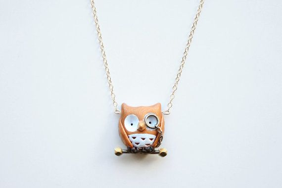 Albert the owl necklace 14k gold filled by MochasFriends on Etsy, $38.00Glasses So, 14K Gold, Albert, Etsy Owls, Necklaces 14K, Things, Gold Filling, Owl Necklace, Owls Necklaces