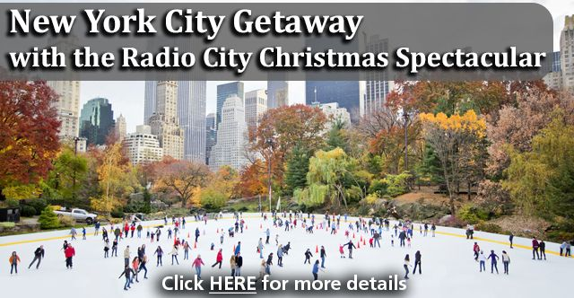 Chicago Ultimate Getaway -   NEW YORK CITY GETAWAY WITH THE RADIO CITY CHRISTMAS SPECTACULAR   Nothing like the holidays in New York City!  Trip Highlights:  2 nights hotel accommodations Tickets to the Radio City Christmas Spectacular with the Rockettes Holiday Lights Tour