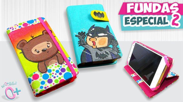 DIY✔ FUNDAS CASERAS para Celular - Dibujadas!!  (Especial 2) ★Así o más ...