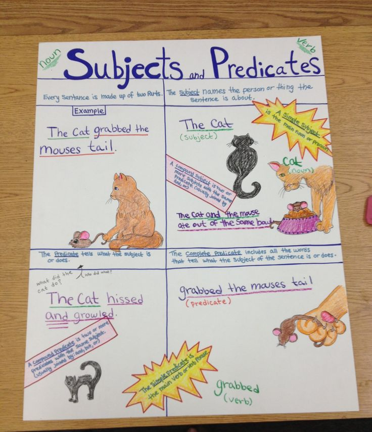 Subject and Predicate Worksheets | Simple, Complete, Compound