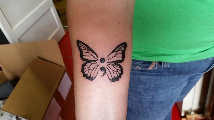 semicolon butterfly tattoo - Google Search