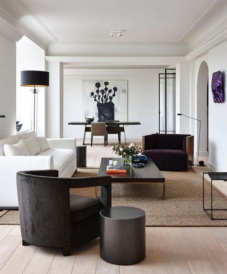 45 Beautiful Modern Black White Living Room Inspired 3 Luxury Living Room Living Room Modern Interior Design Living Room