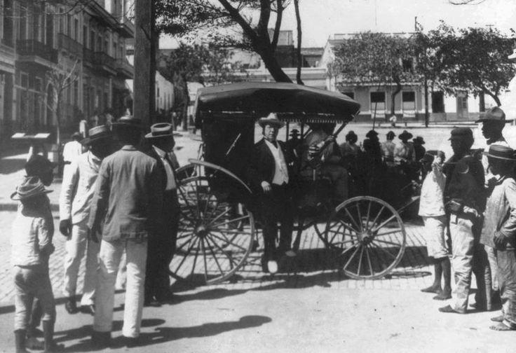 Llegada de Samuel Gompers, Presidente de la American Federation of Labor. (1904)