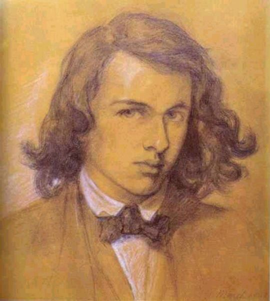 Dante Gabriel Rossetti Self-Portrait He was a poet as well as an artist. He made the pre raphealite movement in art probably the English's strongest art movement along with English Portraiture. His life was extremely dramatic it should be a movie.
