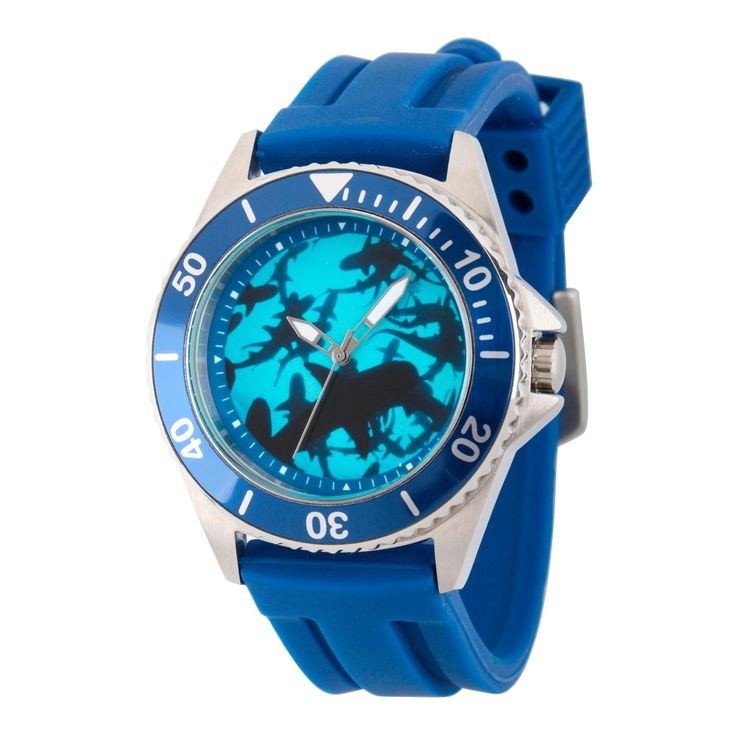 Men's Discovery Channel Shark Week Honor Stainless Steel Watch - Blue
