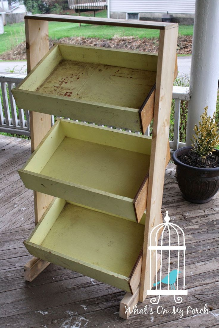 3 tiered display bin made with dresser drawers! Brilliant!