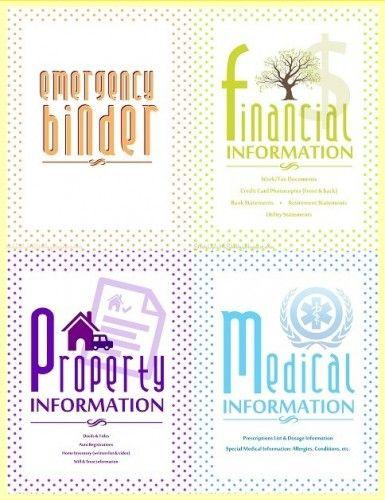 The Homestead Survival | Free Emergency Preparedness Binder Printouts | http://thehomesteadsurvival.com
