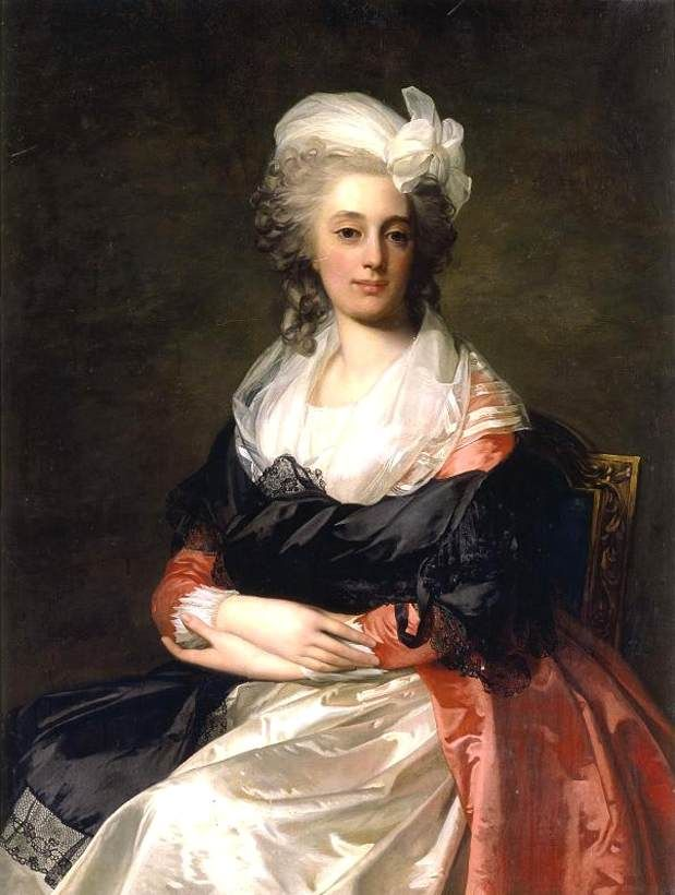 Portrait of a Lady, by Jean-Laurent Mosnier (b. ca. 1743, Paris, d. 1808, St. Petersburg), in 1791