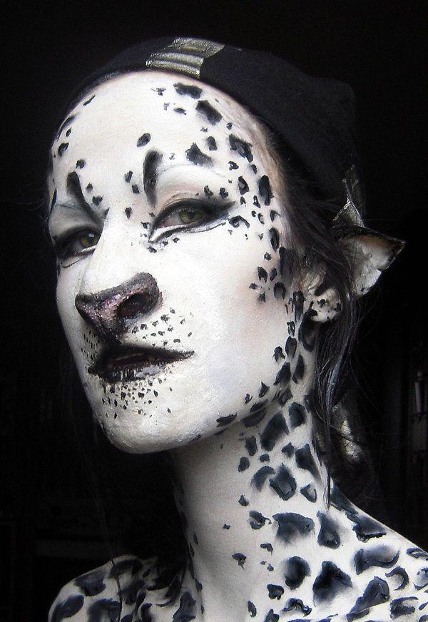 Snow Leopard Girl Edited by blue-sheep on deviantART