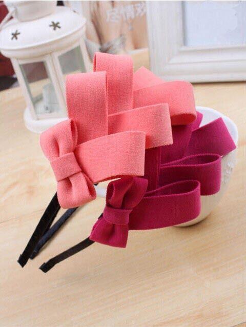 Pink Elegant Bow Headband - ImpressionSense