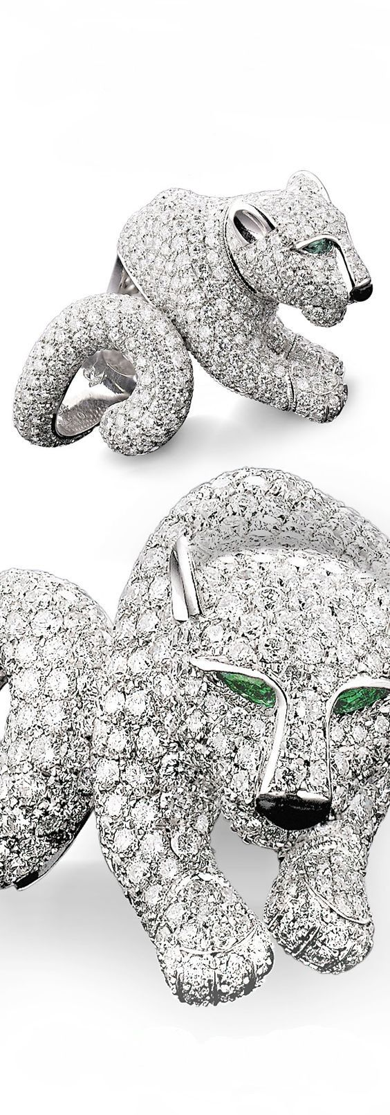This sumptuous diamond ring is from the iconic Panthère de Cartier Collection ~ M.S. Rau Antiques
