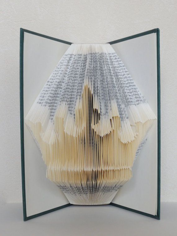 Folded Book Art - Crown - Unique present