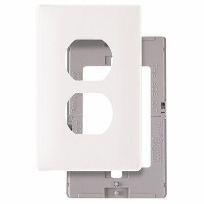 Pass & Seymour/Legrand SWP8 1-Gang Standard Duplex Receptacle Screwless Wall Plate