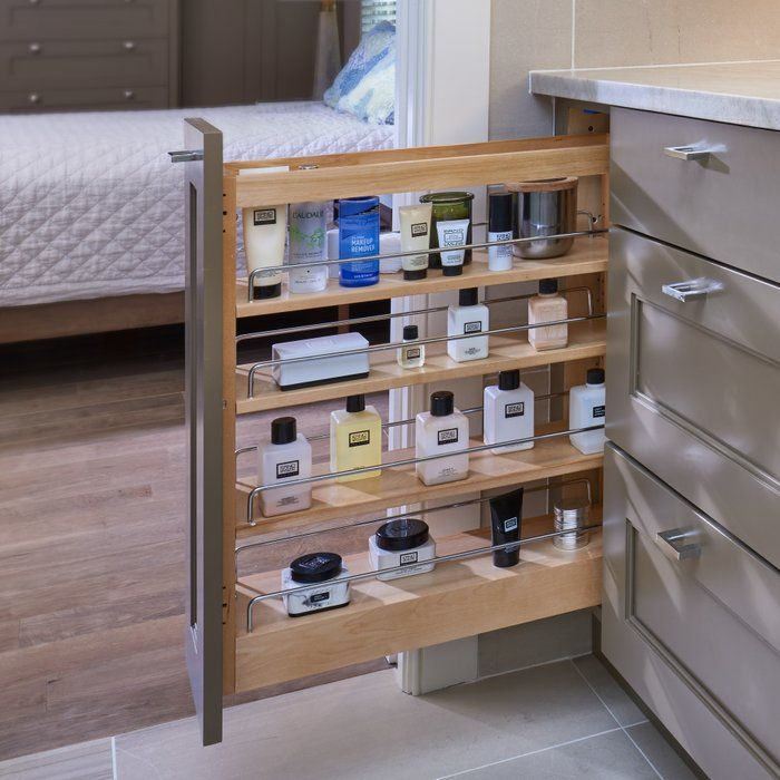 Base Cabinet 3 Shelf Pull Out Pantry Bathroom Organisation