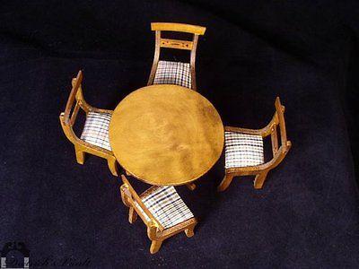 Vintage Shackman Dollhouse Dining Table Chair Set | SHACKMAN DOLLHOUSE  FURNITURE | Pinterest | Miniature Furniture, Dollhouse Furniture And  Miniatures