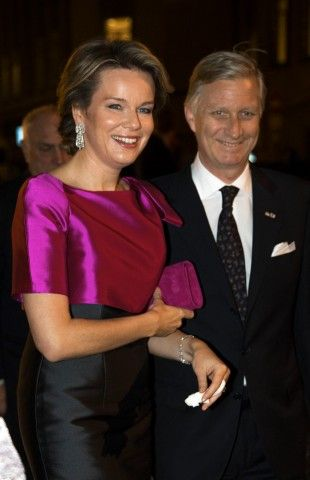 King Philippe and Queen Mathilde of Belgium attend the opening concert for the Dutch presidency of the European Union council on January 22, 2016 at the Bozar in Brussels, Belgium.