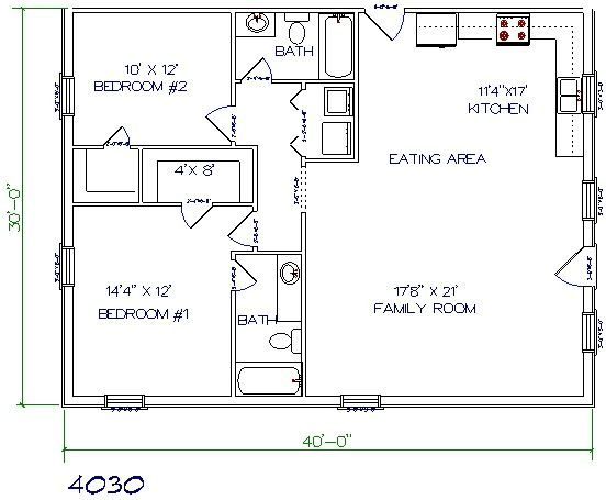 17 best ideas about small house plans on pinterest small for Barndominium floor plans with garage