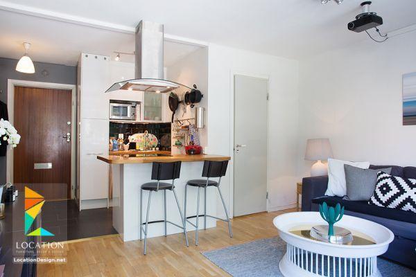 كولكشن مطابخ مفتوحه على الصاله للشقق الحديثة لوكشين ديزين نت Open Plan Kitchen Living Room Open Kitchen And Living Room Living Room And Kitchen Design