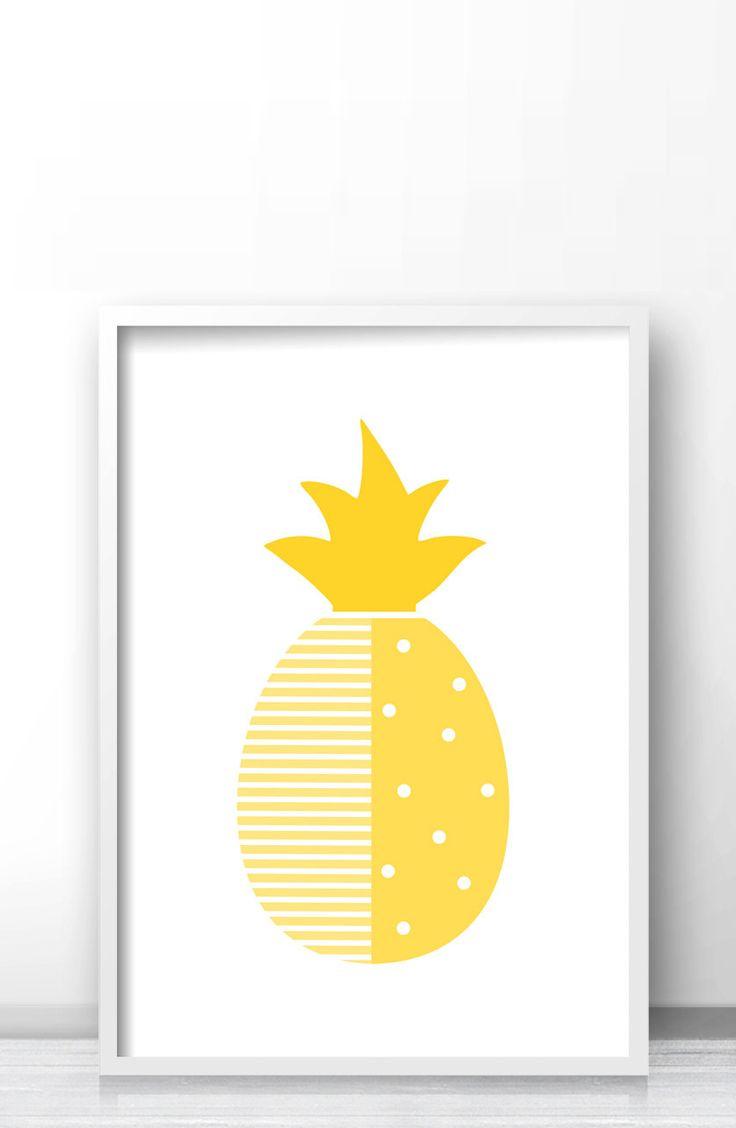 best nursery and kids wall art prints by limitation free images  - pineapple nursery print modern nursery art printable fruit printpineapple wall art print yellow nursery decor modern kids art print