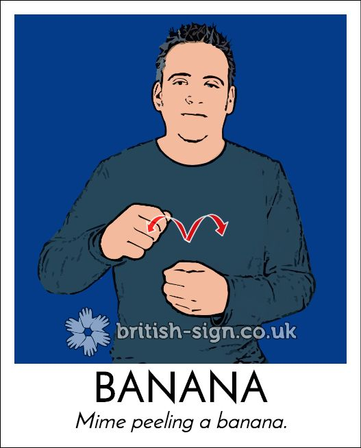 Today's #BritishSignLanguage sign is: BANANA - #FairTradeMonth