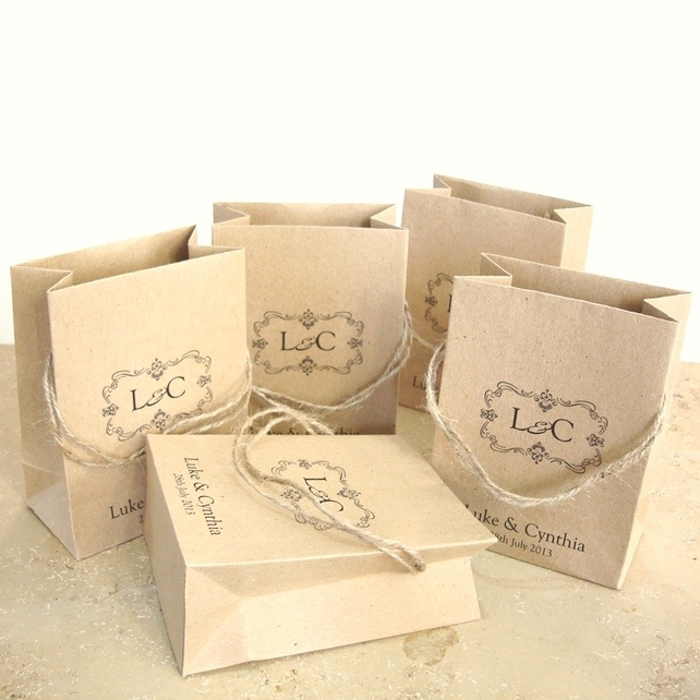 Favour bags Personalised mini bags set of 5 £5.00