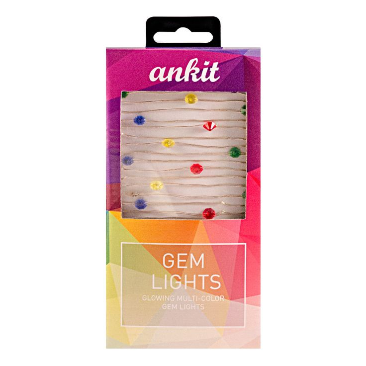 Who wouldn't want to be surrounded by two dozen glowing sapphires, emeralds, rubies and citrines? These LED string lights provide that without breaking the bank! Dream in color with 10 feet of flexibl