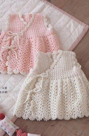 Crochet: robe de bébé Crochet