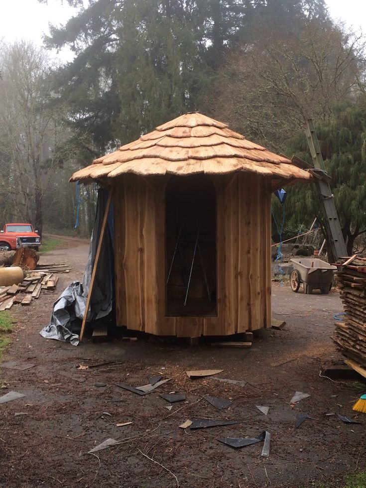 Best Handcrafted Cedar Shingles Shingle House Fairy House 400 x 300