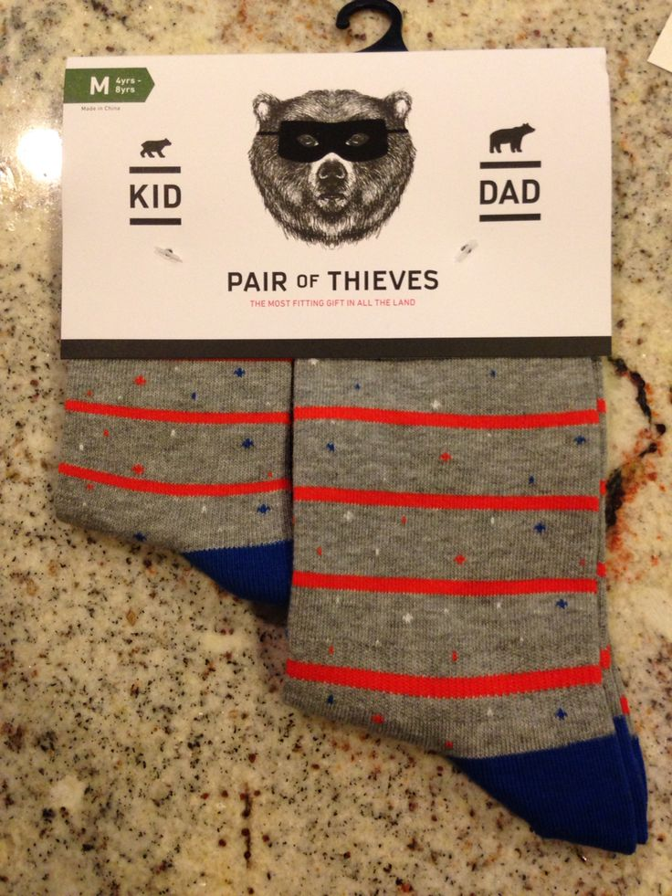 Great Father's Day gift - Pair of Thieves - matching socks.  Target. $9.99