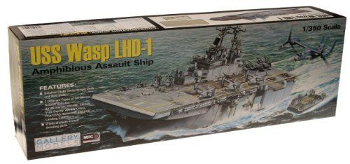 Wasp LHD1 Amphibious Assault Ship 1/350 Gallery Models by Mrc. $181.64. 1-350 Scale.Includes 16 aircraft, Nearly 30 inches long, Fully detailed hanger bay, Explore the nearly 30 length and revel in the magnificence of the fully detailed hanger bay and well deck. Pose the formidable air and ground weaponry as you see fit patrol or battle stations, on deck or below deck with the included tanks, HumVees and artillery on the LCACs or inside the expansive vehicle storage area. The ...