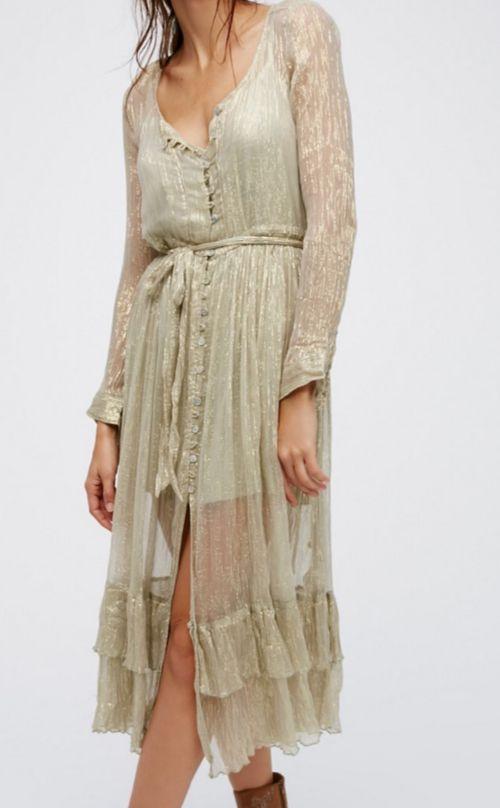Shine Maxi Shirt Dress
