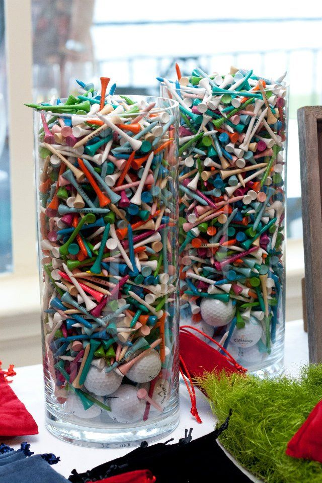 Wedding favors. Golf Tees.  I mean, we are at a golf course, and I feel as though this may be a more useful gift?