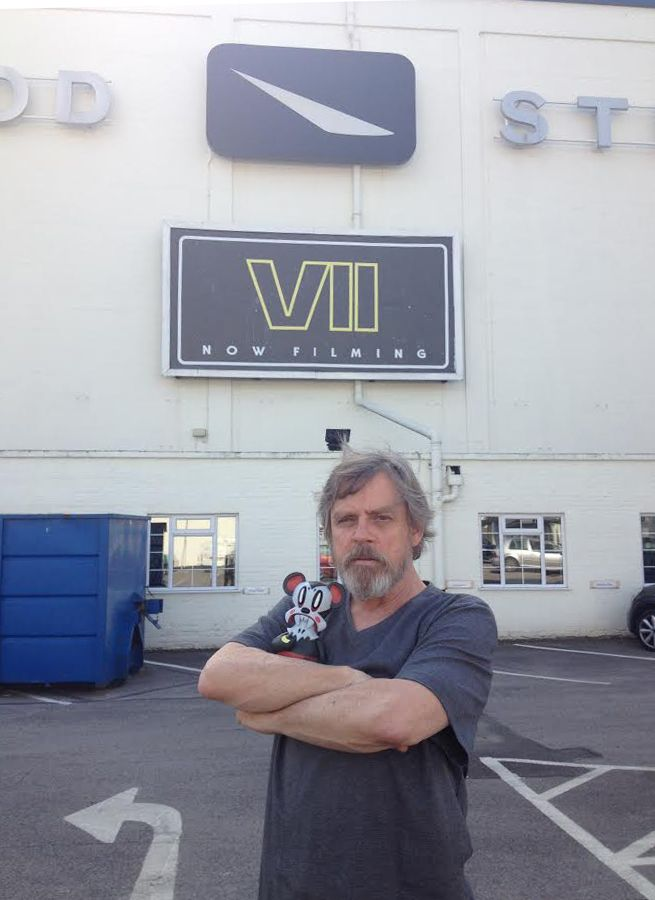 Just Mark Hamill, hanging out on the set of the new Star Wars movie. No big deal. -pinner
