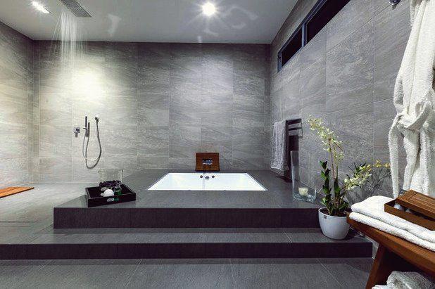 15 Wirklich Fantastische Badezimmer Mit Eingelassener Badewanne Die Sie In Erstaunen Versetz Spa Bathroom Design Bathroom Design Amazing Bathrooms