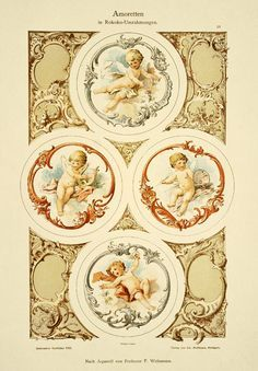 Decorative ornaments - cupids