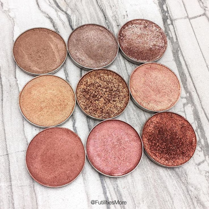 Makeup Geek, Bronze, Gold and copper eyeshadows, pictures and swatches