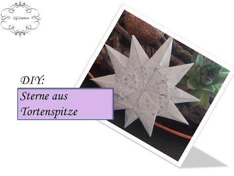 diy christbaumschmuck selber machen stern aus tortenspitze weihnachtsdeko pinterest. Black Bedroom Furniture Sets. Home Design Ideas
