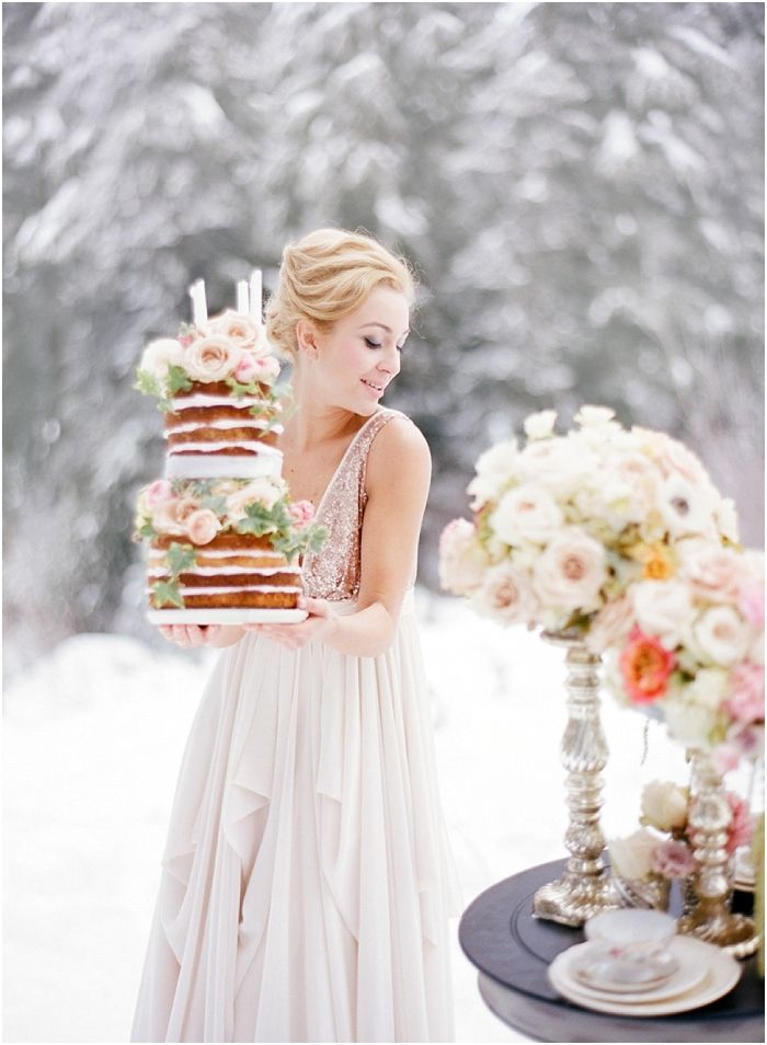 Blush Winter Wedding Inspiration in the Snow. By Nadia Hung