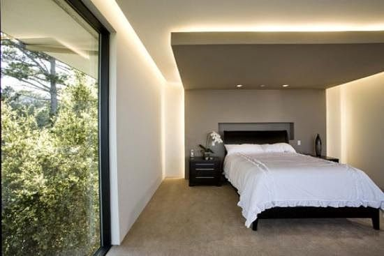 drywall bedroom false ceiling designs with hidden lights