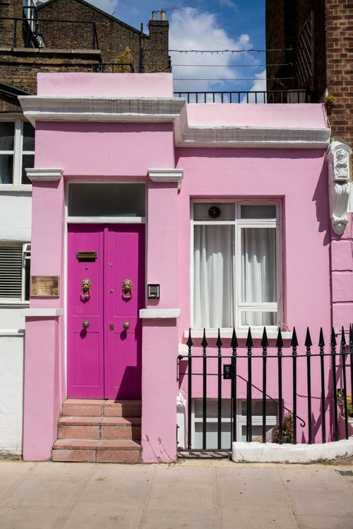 Gal Meets Glam- Notting Hill Pink House