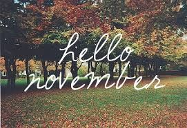 New Month, New Day, New Date, New Page,  New Wishes...Welcome November! #November #newbeginnings