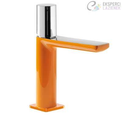 Bateria umywalkowa jednouchwytowa pomarańcz-chrom Loft Colors Tres 20010302NAD
