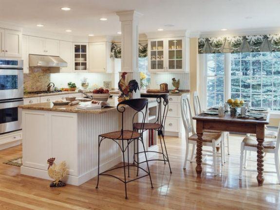 Küchen Einrichtung Holztisch-Kochinsel Granittheke