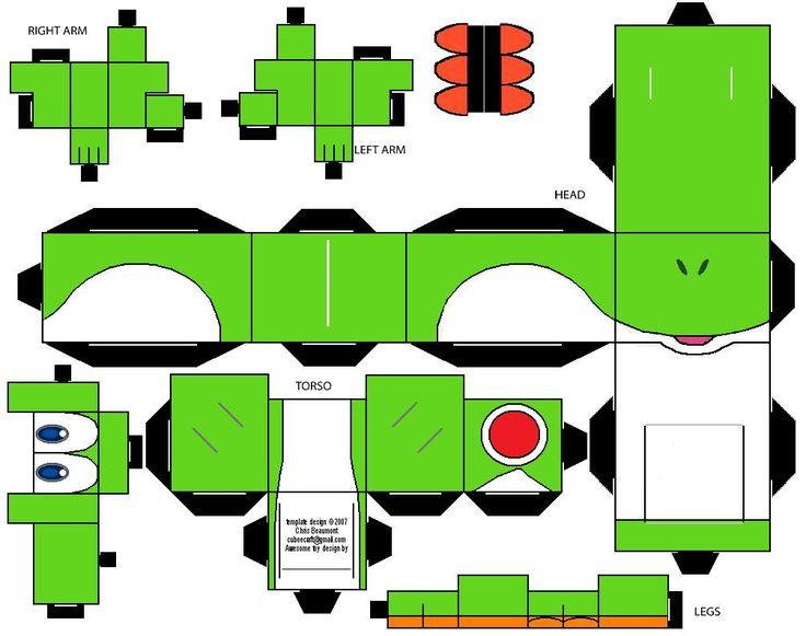 Yoshi Cubeecraft by RiffshePete on deviantART