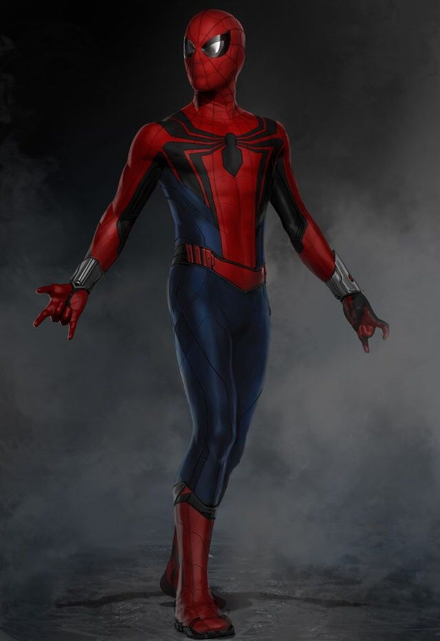 Spider-man homecoming suit concept art.