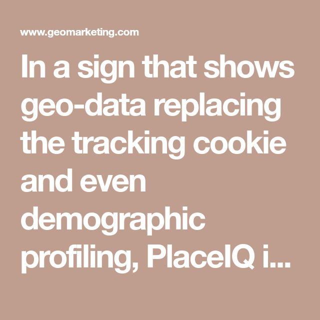 In asign that shows geo-data replacing the tracking cookie and even demographic profiling, PlaceIQ is expanding its alliance withconsumer datamatching provider LiveRamp to establish distinct audience segments based on their real-world locations. While PlaceIQ has struck a number collaborations with analytics platform companies like 1010data, comScore, Nielsen Catalina, the geo-data specialist says thisis the first … Continue reading PlaceIQ And LiveRamp Partner On Creation Of…