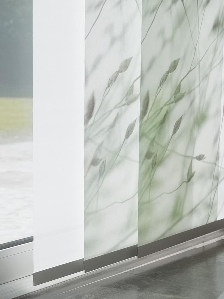 De essentie van paneelgordijnen is dat je panelen over elkaar heen schuift waardoor hele mooie effecten ontstaan.